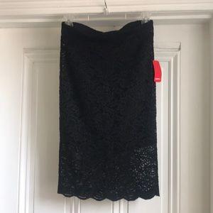 NWT Black Lace skirt